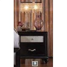 Barzini Two-drawer Nightstand With Metallic Drawer Front