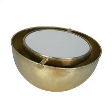 Gold Half Moon Mirror, Adjustable