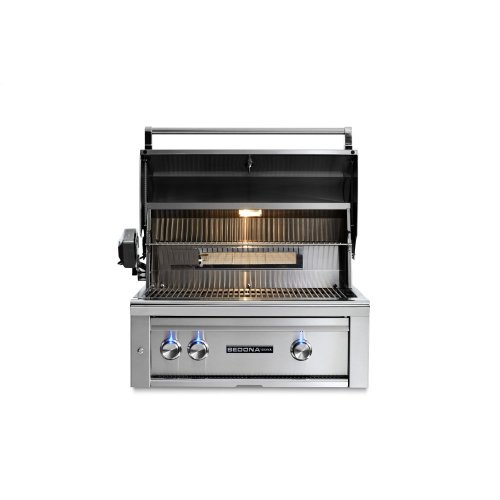 "30"" Sedona by Lynx Built In Grill with 1 Stainless Steel Burner and ProSear Burner and Rotisserie, LP"