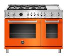 "48"" Professional Series range - Electric self clean oven - 6 brass burners + griddle Product Image"