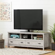 TV Stand with Storage - Fits TVs Up to 60'' Wide - Seaside Pine