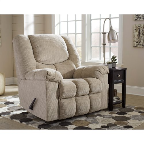 Signature Design by Ashley Turboprop Rocker Recliner in Putty Fabric [FSD-1459REC-PTY-GG]