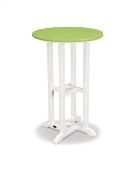 "White & Lime 24"" Round Counter Table"