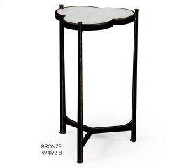 glomise & Bronze Iron Trefoil Lamp Table