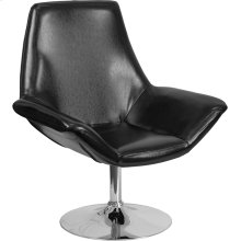 HERCULES Sabrina Series Black Leather Side Reception Chair