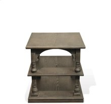 Juniper Rectangular Side Table Charcoal finish