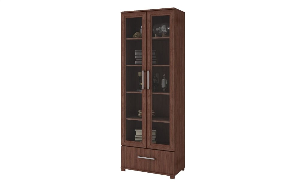 Serra 1.0- 5- Shelf Bookcase in Nut Brown