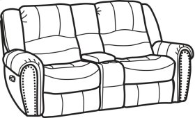 Crosstown Leather Gliding Reclining Loveseat with Console