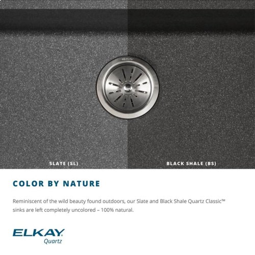 "Elkay Quartz Classic 15-3/4"" x 15-3/4"" x 7-11/16"", Single Bowl Dual Mount Bar Sink, Slate"