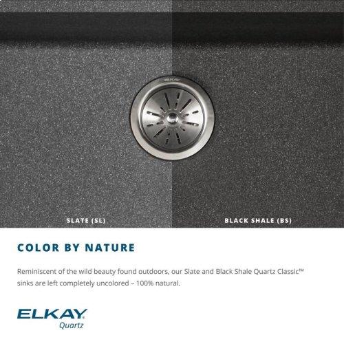 "Elkay Quartz Classic 33"" x 18-7/16"" x 9-7/16"", Single Bowl Undermount Sink, Black Shale"