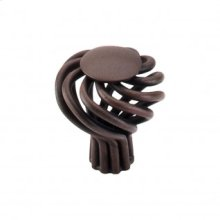 Round Small Twist Knob 1 1/4 Inch - Patina Rouge