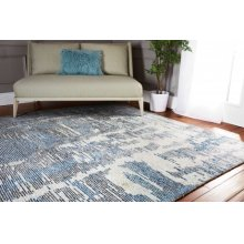 Ellora Ell01 Blue Rectangle Rug 5'6'' X 7'5''