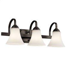 Keiran 3 Light Vanity Light with LED Bulbs Olde Bronze®