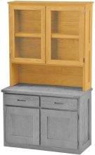 Double Hutch, with Glass Doors Product Image
