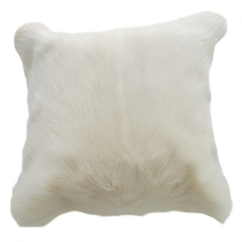 Goat Fur Pillow Natural