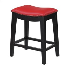 24'' Bar Stool W/no Back-kd-pu Red#al850-5 (2/ctn)