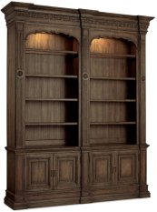 Rhapsody Double Bookcase (w/out ladder & rail)