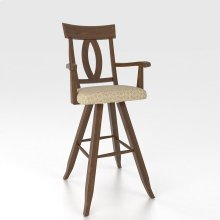 """Swivel Barstool 30"""" with arms"""