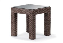 """20"""" Square End Table w/ Tempered Glass Overlay"""