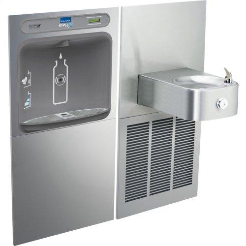 Elkay EZH2O Bottle Filling Station & Soft Sides Single Fountain, Non-Filtered 8 GPH Stainless