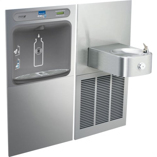 Elkay EZH2O Bottle Filling Station & Soft Sides Single Fountain, Non-Filtered 8 GPH Stainless