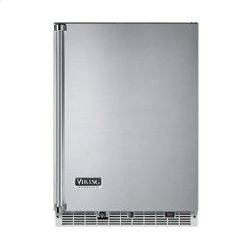 """Stainless Steel 24"""" Beverage Center with Ice Maker - VURI (Left Hinge Door)"""