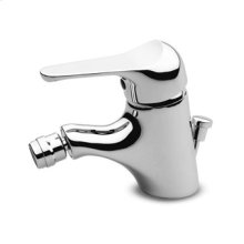 """Single lever bidet mixer with aerator 1 1/4"""" pop-up waste flexible tails."""