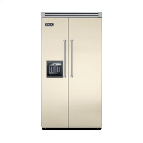 "Biscuit 42"" Side-by-Side Refrigerator/Freezer with Dispenser - VISB (Integrated Installation)"