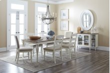 Castle Hill Rectangle Dining Chair With 4 Ladder Back Chairs and Two Upholstered Chairs