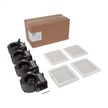InVent Series 110 CFM 1.0 Sones Finish Pack with White Grille; ENERGY STAR® Certified