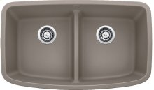 Blanco Valea® Equal Double Bowl With Low-divide - Truffle