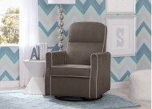 Clair Slim Nursery Glider Swivel Rocker Chair - Graphite with Dove Grey Welt (944)