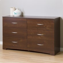 6-Drawer Double Dresser - Sumptuous Cherry