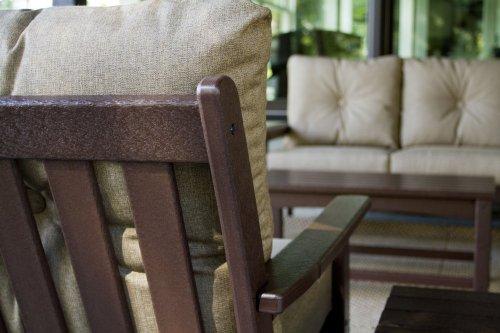 Black & Canvas Granite Vineyard Deep Seating Settee