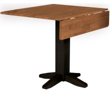 "36"" Complete Square Dropleaf Table Cherry & Black"