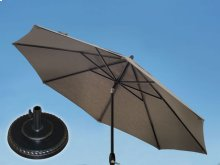 7.5' Umbrella with 7.5' Umbrella Extension Pole and Grand Terrace Umbrella Base