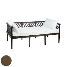 Teak Daybed In Burnt Umber