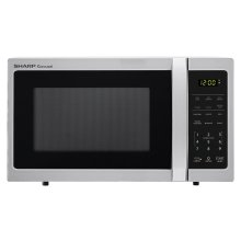 0.7 cu. ft. 700W Sharp Stainless Steel Carousel Countertop Microwave Oven