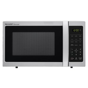 Sharp0.7 cu. ft. 700W Sharp Stainless Steel Carousel Countertop Microwave Oven