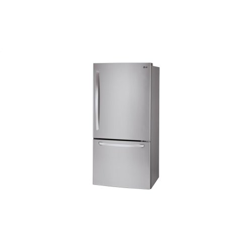 "33"" Large Capacity Bottom Freezer Refrigerator With Inverter Linear Compressor, 24 Cu. Ft. Stainless Steel **OPEN BOX** West Des Moines Location"