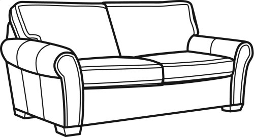 Vail Leather Two-Cushion Sofa
