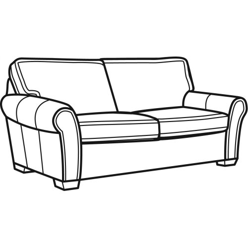 Vail Leather Two Cushion Sofa