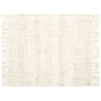 "Throw T1123 Cream 50"" X 60"" Throw Blankets Product Image"