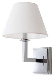 Pauline Wall Sconce - Chrome Shade Color: Off-White