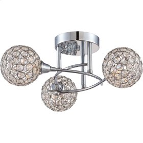 Shimmer Semi-Flush Mount in Polished Chrome