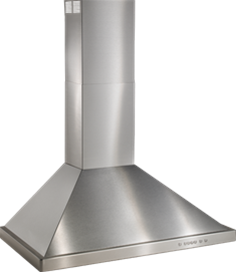 "6"" Brushed Stainless Steel Range Hood with 600 CFM Internal Blower"