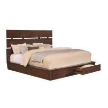 Artesia Industrial Dark Cocoa Queen Bed