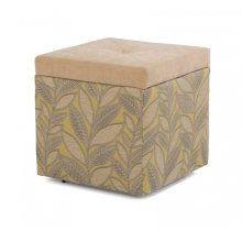 Kube Fabric and Kashmira Storage Ottoman