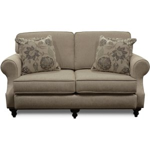 ENGLAND FURNITURE Layla Loveseat With Nails 5m06n