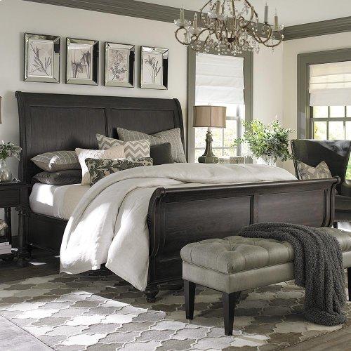 Cal King/Smoked Oak Emporium Sleigh Bed